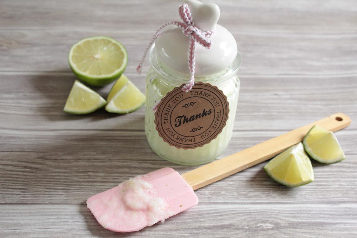 Kokos Limetten Zucker Peeling