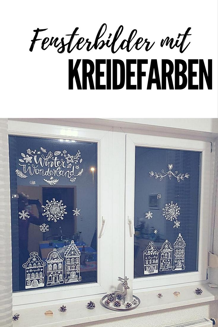 Fensterbilder mit Kreidefarben