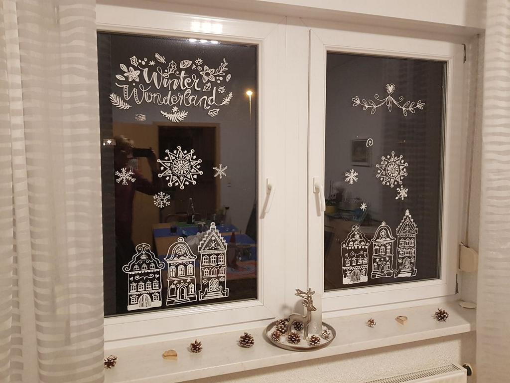 Fensterbilder mit Kreidemarkern